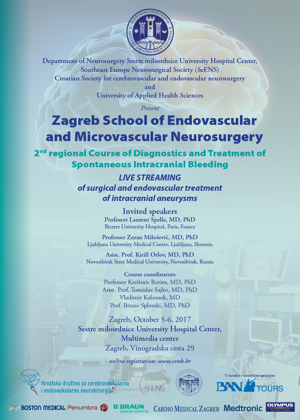 2. tečaj dijagnostike i liječenja spontanih intrakranijalnih krvarenja